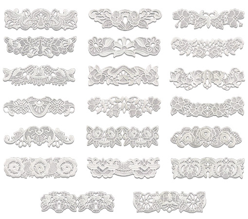 Floriani Embroidery Design Collection Endless Lace Borders