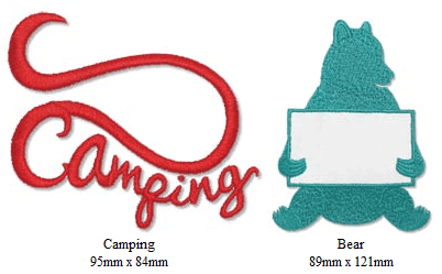 Camping Silhouettes Embroidery CD with SVG Files - Sew Creative Cottage