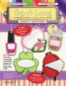 Tag Along Party Embroidery CD with SVG Files - Sew Creative