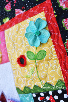 Kimberbell Hello Sunshine Quilt Kit White Border Sew