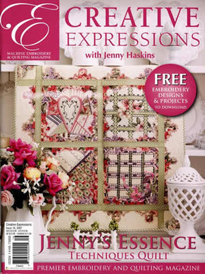 Jenny Haskins Creative Expressions Issue 16 - Sew Creative Cottage on
