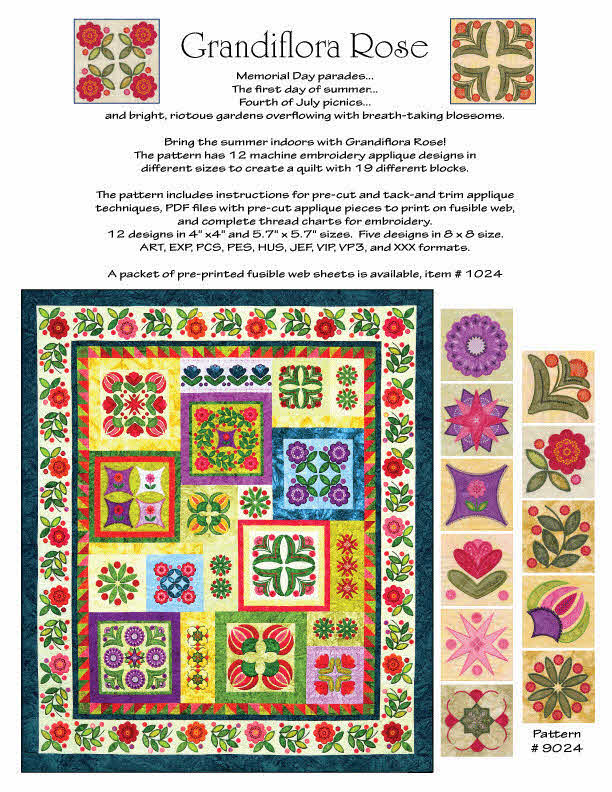 Grandiflora Rose + FREE Shipping! - Sew Creative Cottage