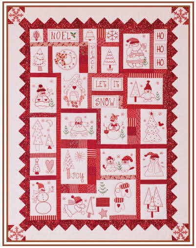 Holiday Redwork Free Shipping Sew Creative Cottage